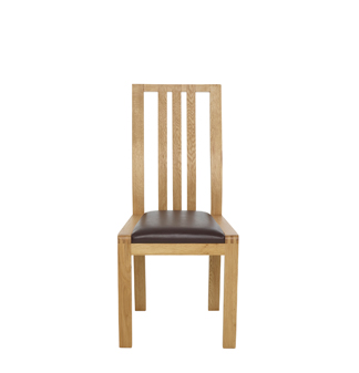 Image of 1383BFL dining chair - brown faux leather