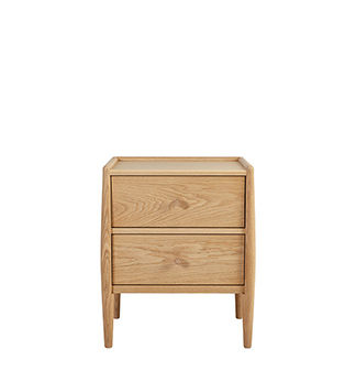 Image of 3519 2 drawer bedside chest