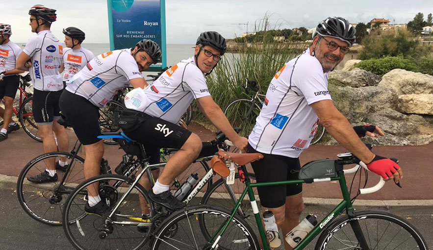 ercol team cycles for charity from London to Bordeaux